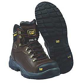 Cat Diagnostic Safety Boots Brown Size 8