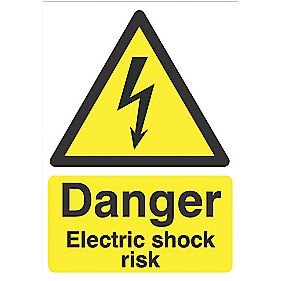 """Danger Disconnect The Mains Supply"" Labels 220 x 150mm Pack of 2"