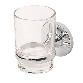 Swirl Cirque Toothbrush Tumbler & Holder Chrome-Plated