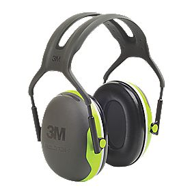 3M Peltor X4 Ear Defenders Black / Green 33dB SNR