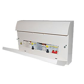 Square D 8-Way Dual RCD Consumer Unit