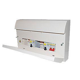 Square D 8-Way Dual RCD Consumer Unit
