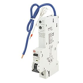 Wylex 40A 30mA Single Pole Type C Curve RCBO