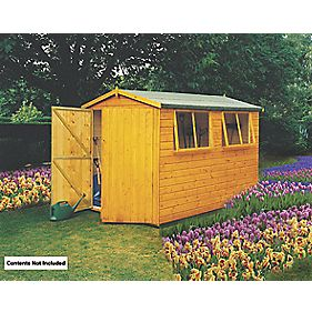 "Shire Shiplap Heavy Duty Apex Workshop 9' 8"" x 9' 8"" x 2.3m (Nominal)"
