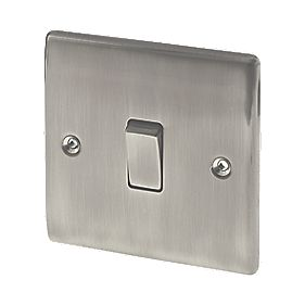 British General 1-Gang 2-Way 10AX Light Switch Brushed Iridium
