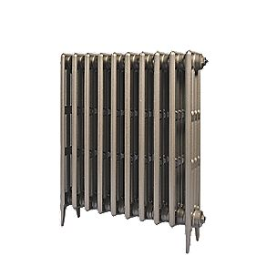 Cast Iron 760 Designer Radiator 4-Column Bronze H: 760 x W: 397mm