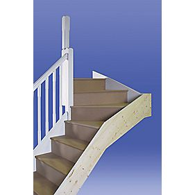 Stairways Chamfered Top Winder Staircase RH White