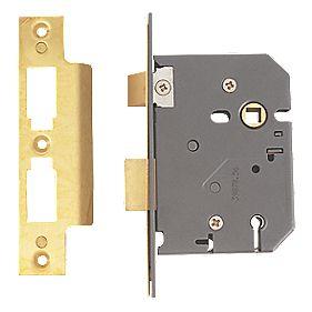 "Yale 5-Lever Mortice Sashlock Polished Brass 3"" / 76mm"
