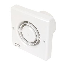 Manrose LoWatt Axial Bathroom Extractor Fan with Timer