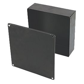 Appleby Black Adaptable Box with Knockouts 225 x 225 x 75mm
