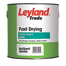 Leyland Trade Satin Fast Drying Paint White 2.5Ltr
