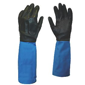 Showa Best Chem Master Gauntlets Blue/Black X Large