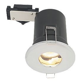 LAP Fixed Round Mains Voltage Fire Rated Downlight Chrome Effect 240V