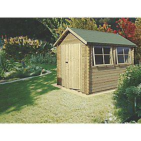 Shire Solway 3 Log Cabin Assembly Included 3.5 x 4.7m