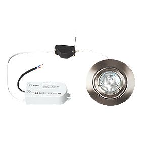Robus Fixed Round Low Voltage Downlight Pre-Wired Brushed Chrome 12V