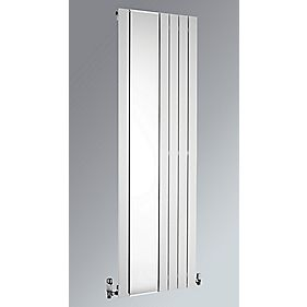 Oceanus Mirror Vertical Designer Radiator White 1800 x 595mm 2610BTU