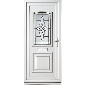 Sherbourne Single-Light Front Door LH uPVC LH 920 x 2085mm