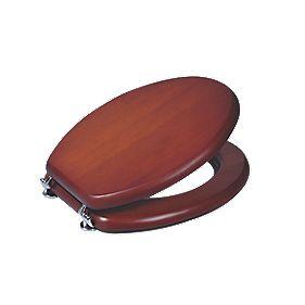 Toilet Seat Wood Mahogany Pine