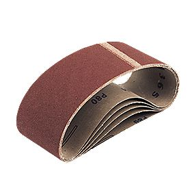 Cloth Sanding Belts 75 x 533mm 40 Grit Pack of 5
