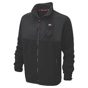 "Lee Cooper Fleece Jacket Black XX Large 68"" Chest"