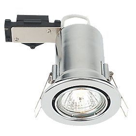 LAP Adjustable Round Low Voltage Fire Rated Downlight Polished Chrome 12V