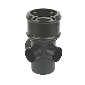 FloPlast SP581CI Cast Iron Effect Boss Pipe (Socket/Spigot) Black 110mm