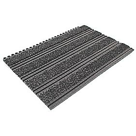 COBA Europe Premier Track Interlocking Entrance Tiles 300 x 450mm Anthracite Pack of 2
