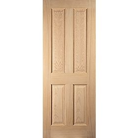 Jeld-Wen Oregon Solid 4 Panel Interior Door Oak Veneer 2040 x 726mm