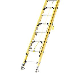 1119-004 Double Extension Fibreglass Ladder 2 x 10 Max. Height 5.2m