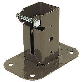 Bolt-Down Post Supports 50 x 50mm Pack of 2