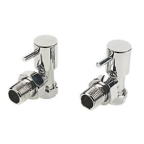 Roma Angled Radiator Valves Pair