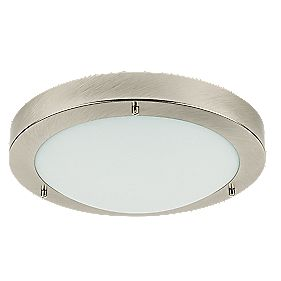 Portal Brushed Chrome Bathroom Ceiling Light GLS 60W