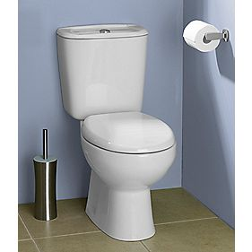 Salcombe Close Coupled Toilet Dual Flush 6Ltr