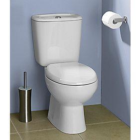 Salcombe Close Coupled Toilet Dual Flush 6Ltr