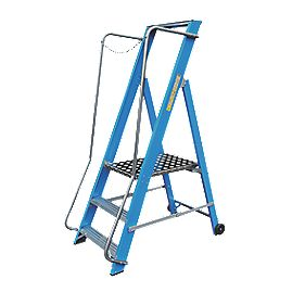 Lyte Widestep Platform Step Ladder Fibreglass 3 Treads 1.62m
