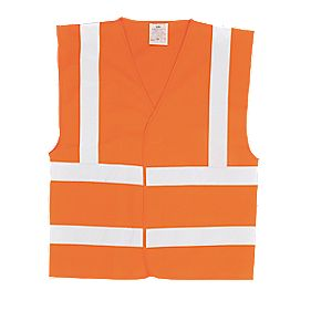 "Hi-Vis Waistcoat Orange Large / X Large 52"" Chest"