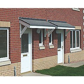 Braemar Door Canopy Grey 1300 x 625 x 900mm