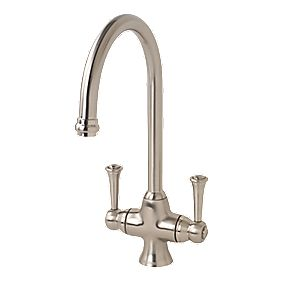 Bristan Sentinel Sink Mounted Mono Mixer Kitchen Tap Brushed Nickel