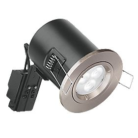Aurora Fire Rated Fixed Compact LED Downlight IP20 Satin Nickel 4.5W