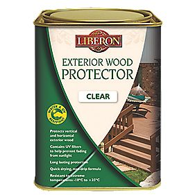 liberon exterior wood protector clear 1ltr decking sealer protector