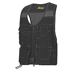 "Snickers Flexi Toolvest Black X Large 49"" Chest"