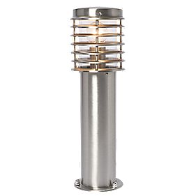 Clipper Post Top Light Brushed Stainless Steel