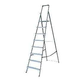 Lyte Platform Step Ladder Aluminium 8 Treads 2.34m