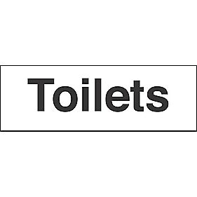 """Toilets"" Sign 100 x 300mm"