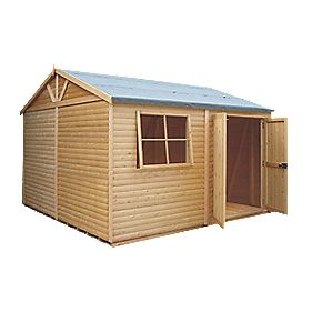 Shire Tongue & Groove Mammoth Workshop 3.6 x 3.6 x 2.8m Assembly Included