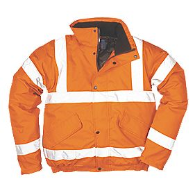 "Hi-Vis Bomber Jacket Orange 50-52"" Chest"