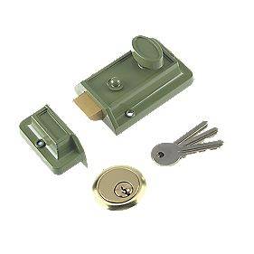 Yale Century Traditional Night Latch Green 60mm Backset