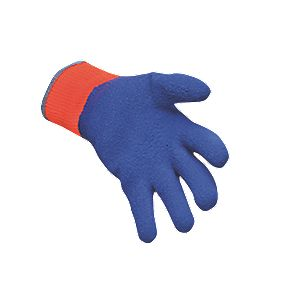 Cold Hazard Grip Gloves Blue / Orange X Large
