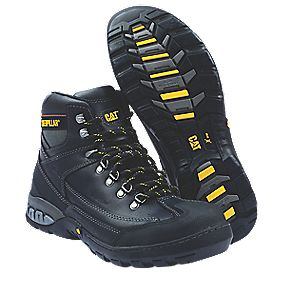 Cat Dynamite Safety Boots Black Size 9