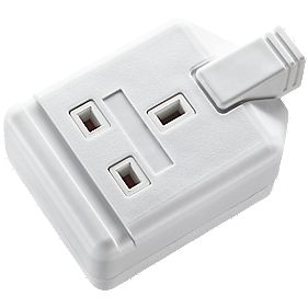 Masterplug Heavy Duty Rewirable 13A 1-Gang Single Pole Socket White